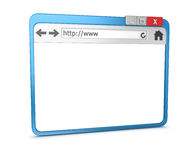 3d Browser. 3d render , computer generated image ,  on white Stock Images