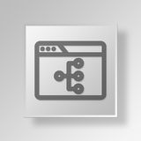3D browser structure icon Business Concept. 3D Symbol Gray Square browser structure icon Business Concept Stock Photo