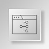 3D browser structure icon Business Concept. 3D Symbol Gray Square browser structure icon Business Concept Stock Images