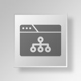 3D browser structure icon Business Concept. 3D Symbol Gray Square browser structure icon Business Concept Royalty Free Stock Photos