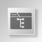 3D browser work flow icon Business Concept. 3D Symbol Gray Square browser work flow icon Business Concept Stock Photo