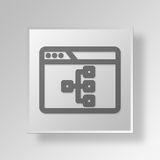 3D browser work flow icon Business Concept. 3D Symbol Gray Square browser work flow icon Business Concept Royalty Free Stock Image