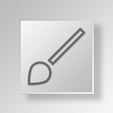 3D Brush icon Business Concept. 3D Symbol Gray Square Brush icon Business Concept Stock Photos