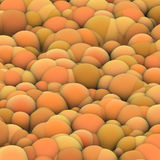 3d bubble balls backdrop in orange yellow Royalty Free Stock Images