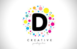 D Bubble Dots Letter Logo Design with Creative Colorful Bubbles. Stock Image