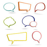 3D bubble speech Stock Images
