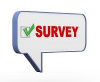 3d bubble speech survey Stock Photos