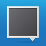 3D bubble talk blackboard. Stock Images