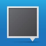 3D bubble talk blackboard. Design element , Illustrator EPS10 Stock Images