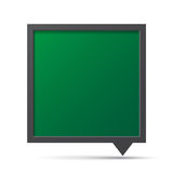 3D bubble talk blackboard. Royalty Free Stock Images