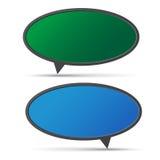 3D bubble talk blackboard. Design element , Illustrator EPS10 Stock Photography