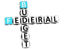 3D Budget Federal text Crossword. On white background Royalty Free Stock Photography