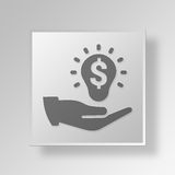 3D Budget plan icon Business Concept. 3D Symbol Gray Square Budget plan icon Business Concept Royalty Free Stock Image