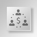 3D Budget plan icon Business Concept Stock Photos