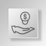 3D Budget plan icon Business Concept. 3D Symbol Gray Square Budget plan icon Business Concept Royalty Free Stock Photos