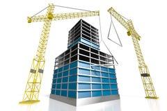 3D budynek biurowy, budowa Zdjęcie Stock