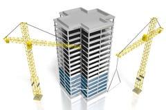 3D budynek biurowy, budowa Obrazy Royalty Free