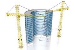 3D budynek biurowy, budowa Fotografia Stock
