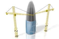 3D budynek biurowy, budowa Zdjęcie Royalty Free