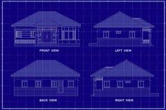 3D budynek na projekcie royalty ilustracja