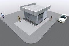 3D budynek odpłaca się w Armenia Obrazy Royalty Free