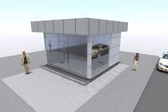 3D budynek odpłaca się w Armenia Zdjęcia Royalty Free