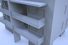 3D budynek w ruchu Ładny 3D rendering Fotografia Royalty Free