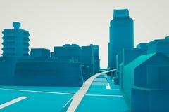 3D budynek w ruchu Ładny 3D rendering Obrazy Stock