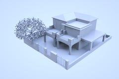 3D budynek w ruchu Ładny 3D rendering Obraz Royalty Free