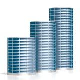 3D budynki biurowi Zdjęcia Royalty Free