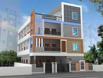 3D budynku elewacja Obraz Royalty Free