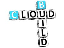 3D Build Cloud Crossword Royalty Free Stock Photography