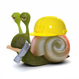 3d Builder snail Stock Photography