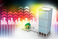3d building constructions Stock Images