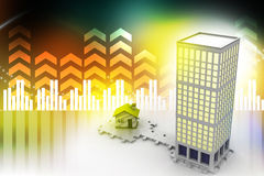 3d building constructions Stock Photography