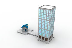 3d building constructions. In white background Stock Images