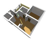 3D building. 3D house drawing Stock Images
