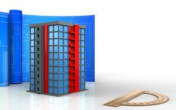 3d of building Stock Photo