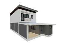 3D building isolated render Stock Photography