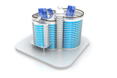 3D building model. 3D render of  building model Royalty Free Stock Images