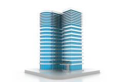 3D building model. 3D render of building model Royalty Free Stock Image