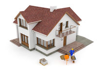 3d Building - renovation. 3D building renovation - conception drawing Royalty Free Stock Image