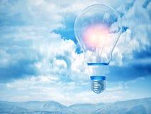 3d bulb balloon Stock Image