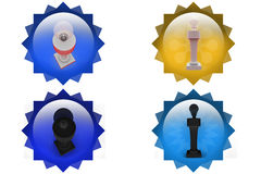 3d bulb on top icon Royalty Free Stock Photography