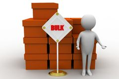 3d bulk cargo concept Royalty Free Stock Images