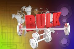 3d bulk gym illustration Royalty Free Stock Image