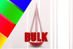3d  bulk on scale Stock Images