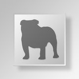 3D Bulldog icon Business Concept Royalty Free Stock Photography