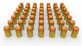 3d bullets arrangement Royalty Free Stock Photography