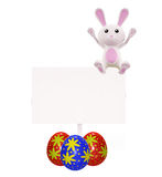 3D Bunny with board illustration. Illustration of 3D Bunny with board Stock Photography